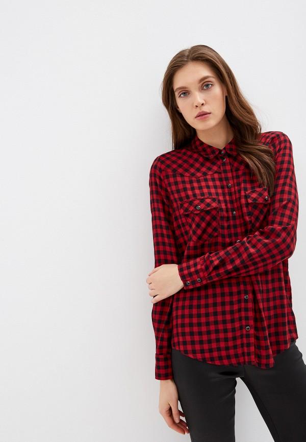 женская рубашка с длинным рукавом guess, красная