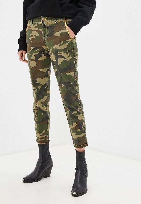 женские повседневные брюки guess, хаки