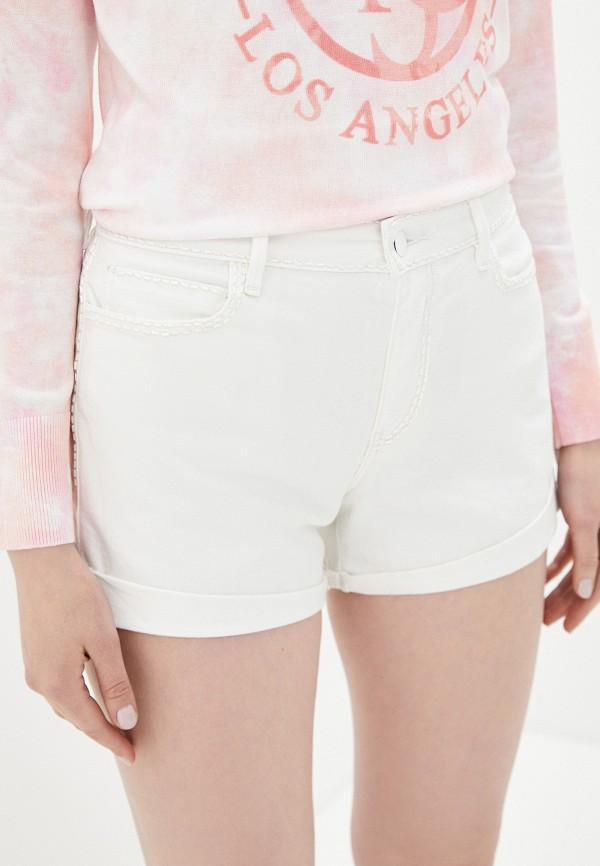 женские джинсовые шорты guess, белые