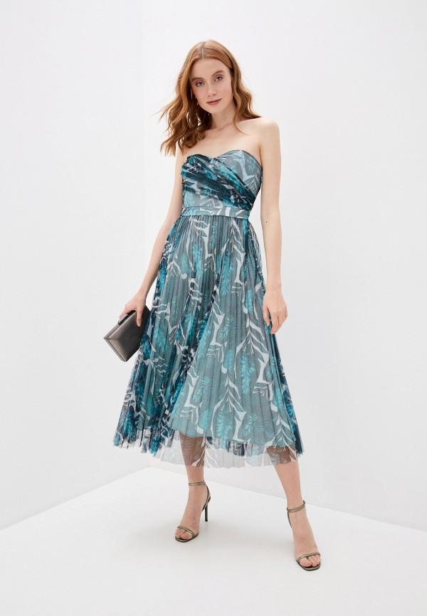 женское вечерние платье guess, разноцветное