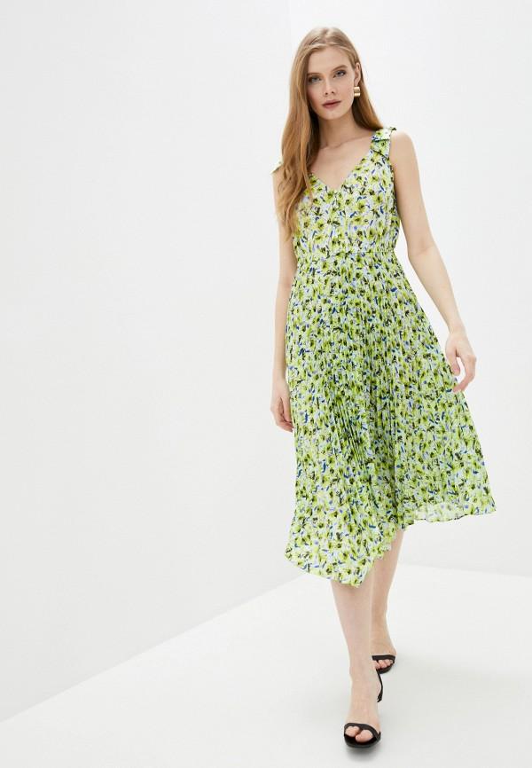 женское повседневные платье guess, зеленое