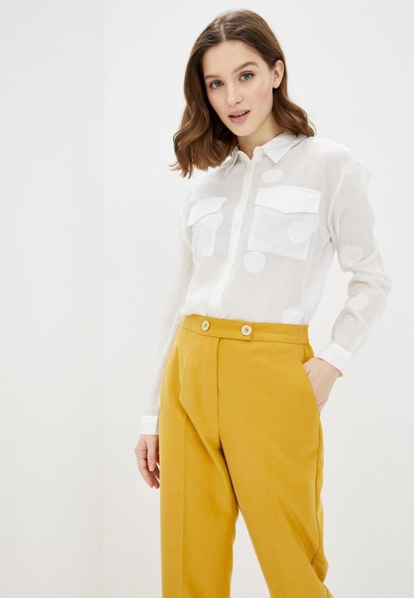 женская рубашка с длинным рукавом guess, белая