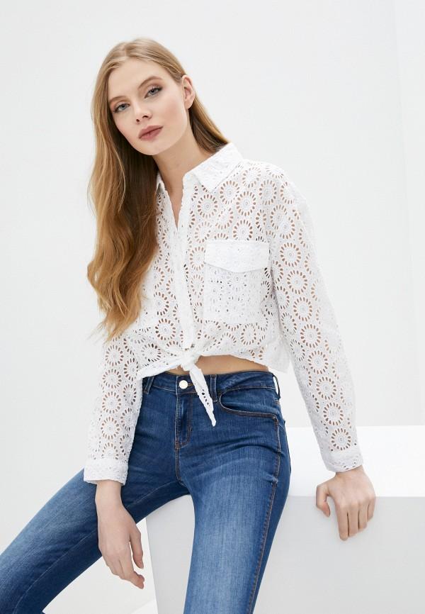 женская кружевные блузка guess, белая