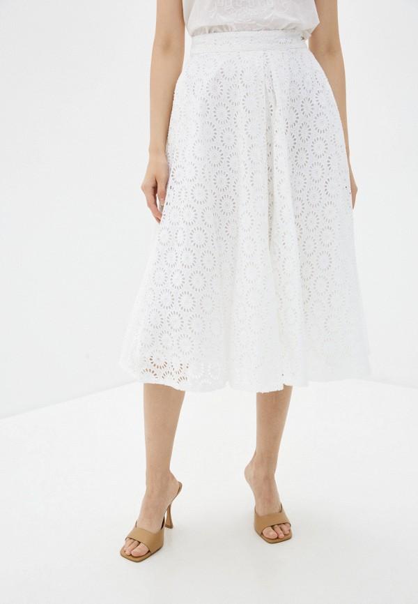 женская юбка-трапеции guess, белая