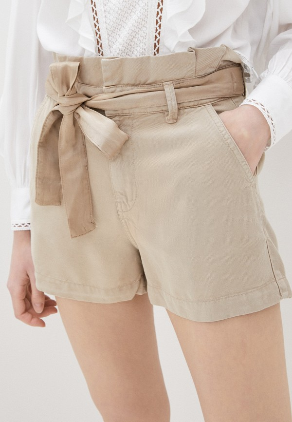 женские повседневные шорты guess, бежевые