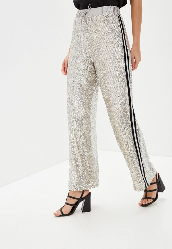 женские повседневные брюки guess, серебряные