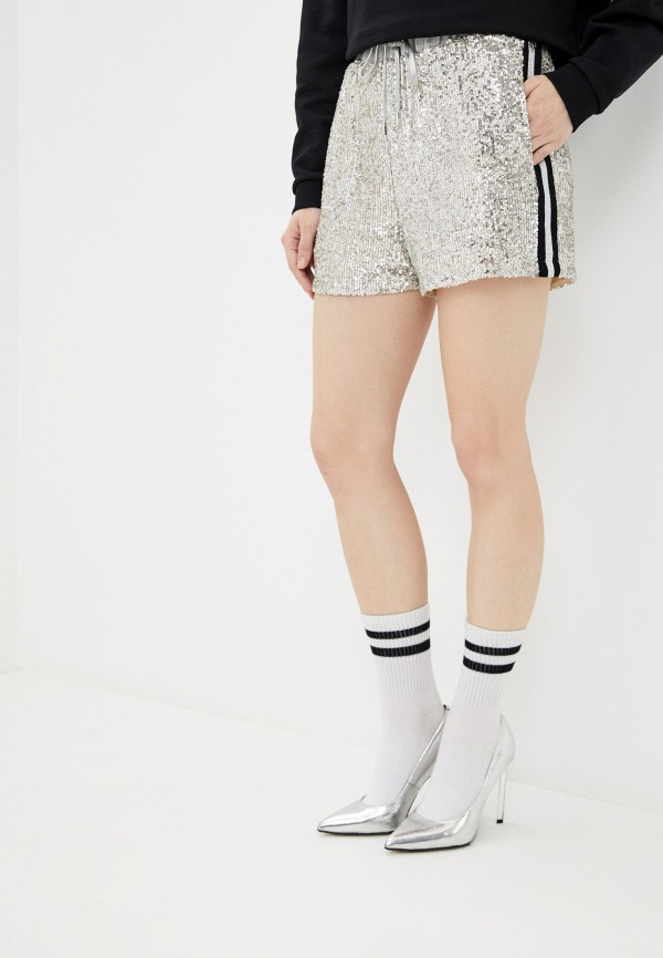 женские повседневные шорты guess, серебряные