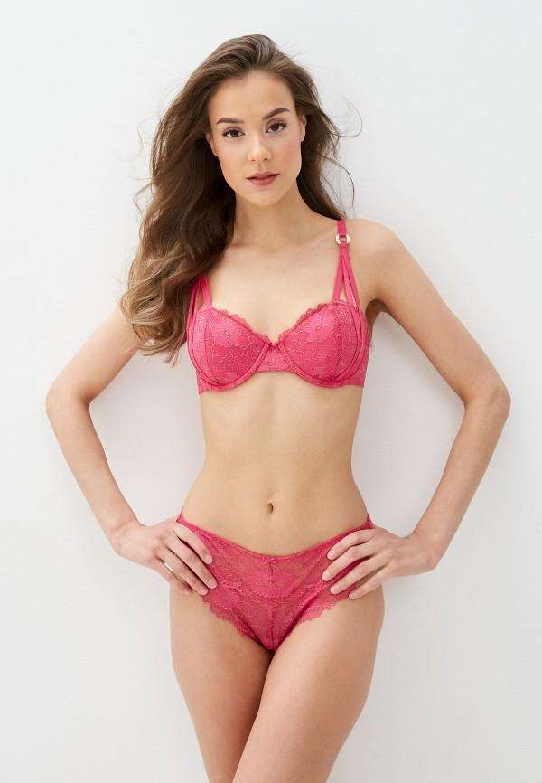 женский бюстгальтер на косточках guess, розовый