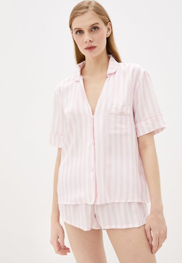 женская пижама guess, розовая