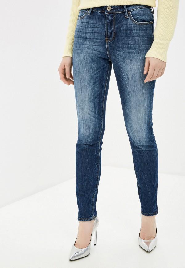 женские джинсы скинни guess, синие
