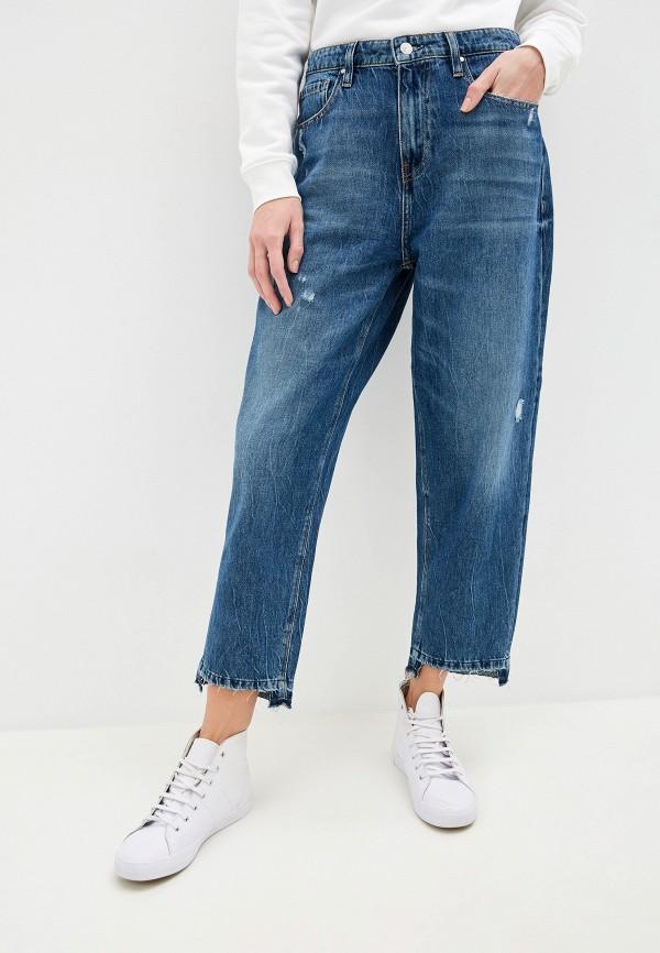 женские джинсы-мом guess, синие