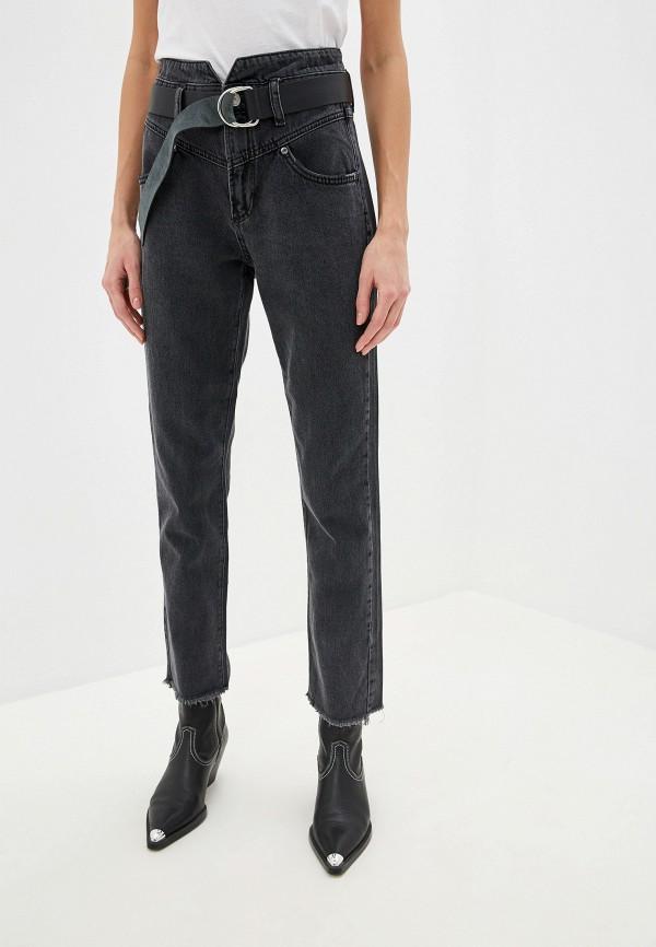 женские прямые джинсы guess, черные
