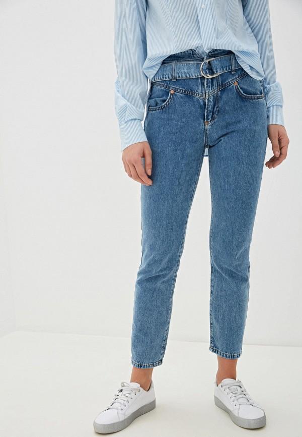 женские джинсы guess, голубые
