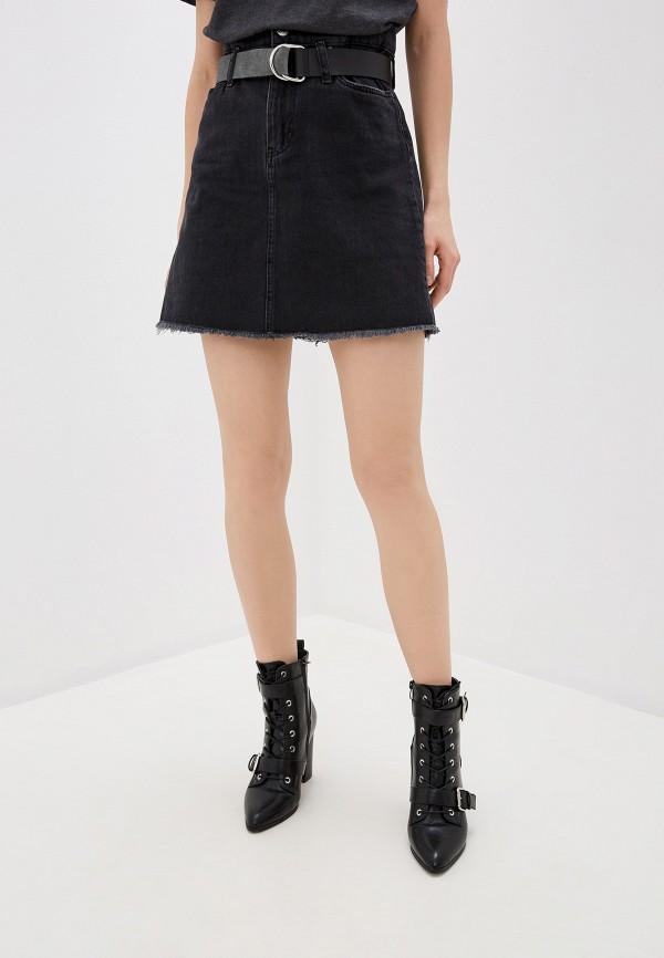женская джинсовые юбка guess, черная