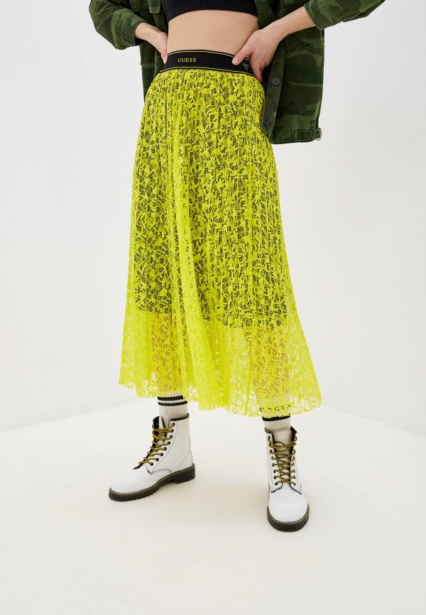 женская юбка guess, желтая