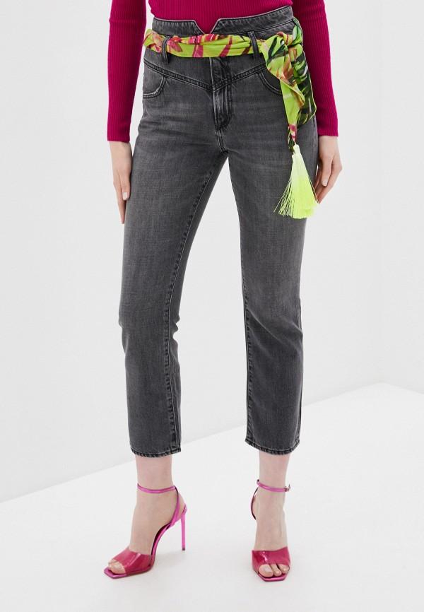 женские джинсы-мом guess, черные