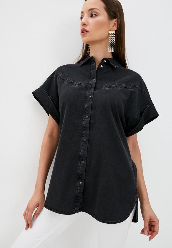 женская джинсовые рубашка guess, черная