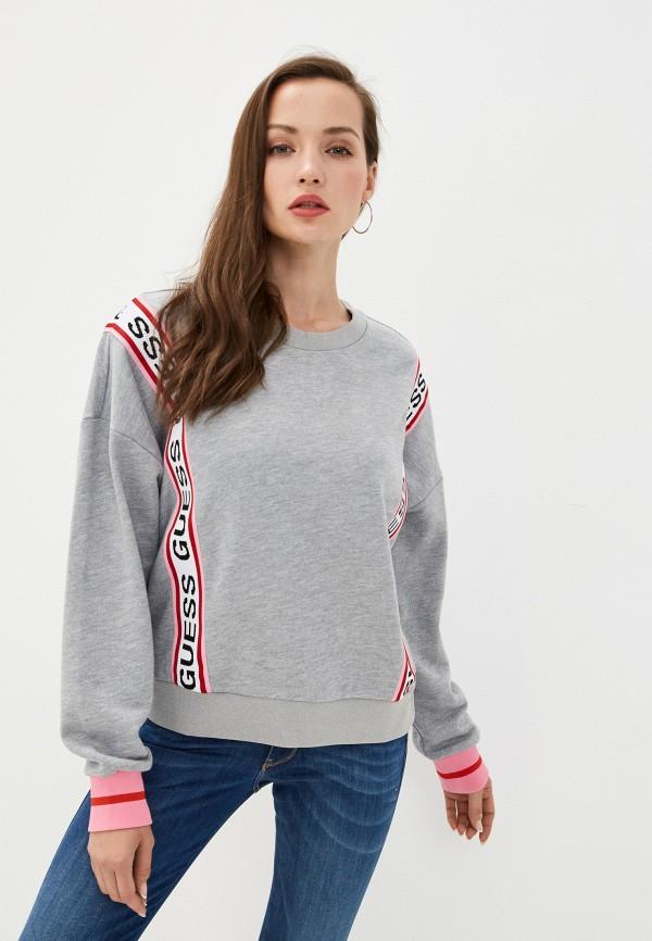 женский свитшот guess, серый