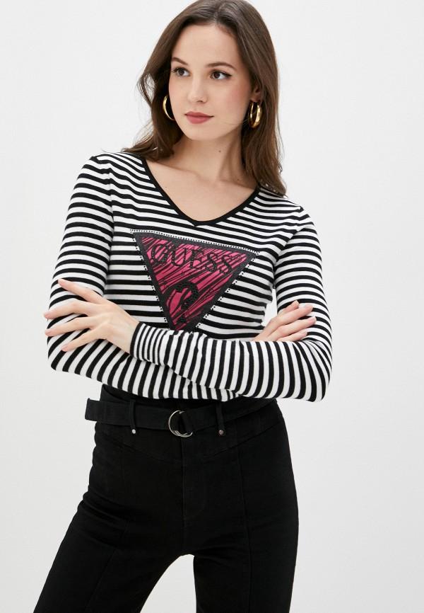 женский пуловер guess, черный