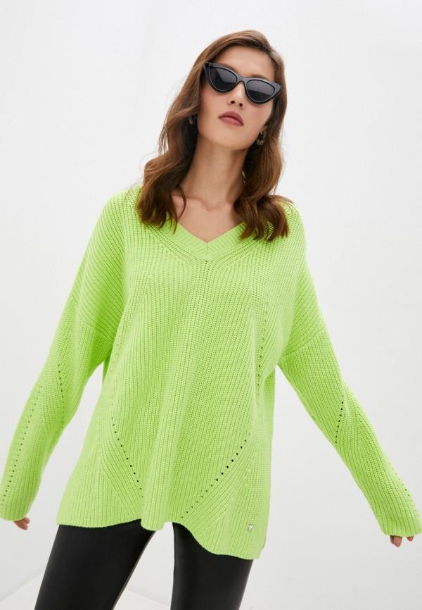 женский пуловер guess, желтый