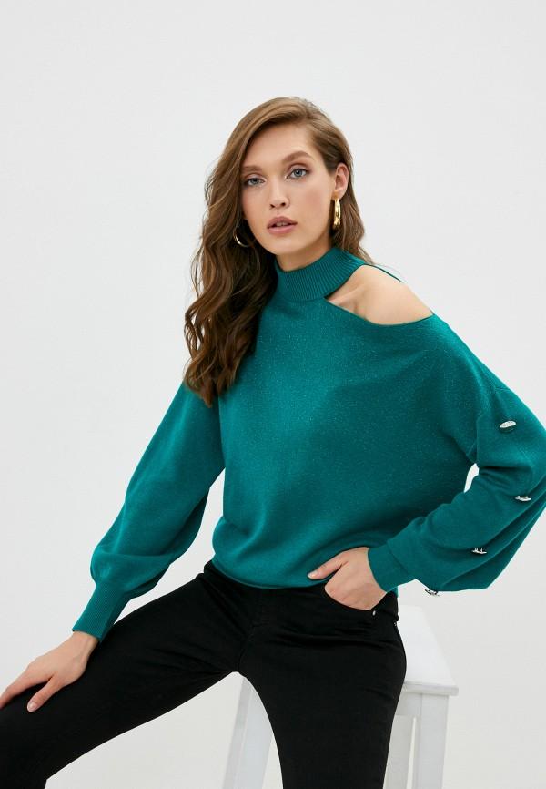 женский джемпер guess, зеленый