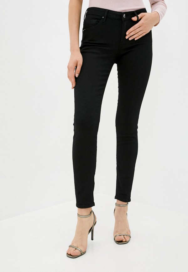 женские джинсы скинни guess, черные