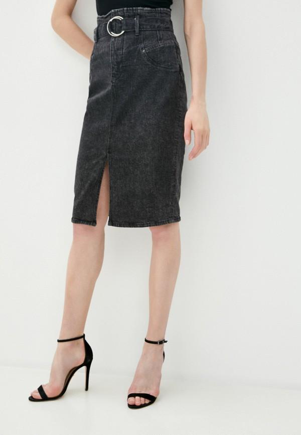 женская джинсовые юбка guess, серая