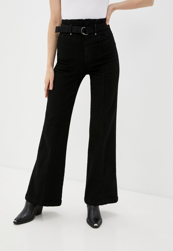 женские джинсы клеш guess, черные
