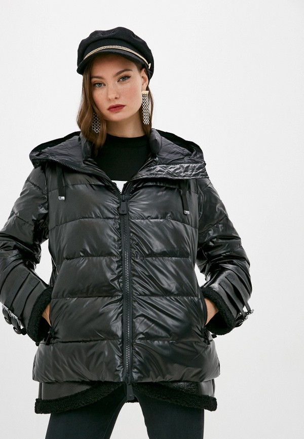 женская куртка guess, черная