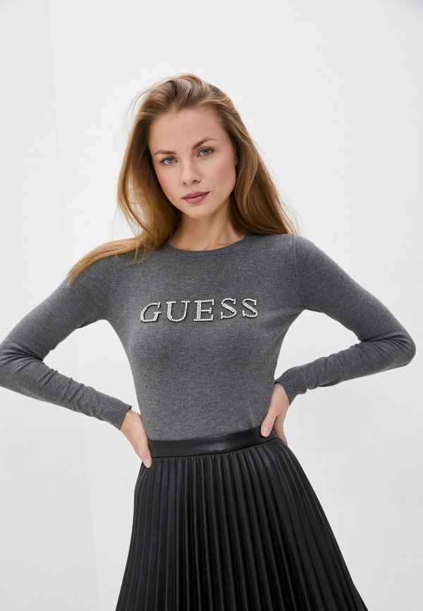 женский джемпер guess, серый