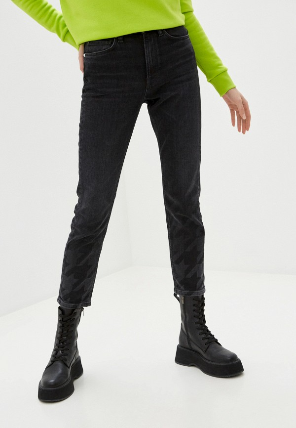 женские джинсы скинни guess, серые