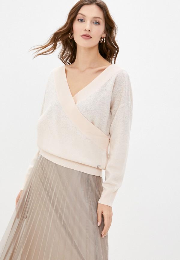 женский пуловер guess, бежевый
