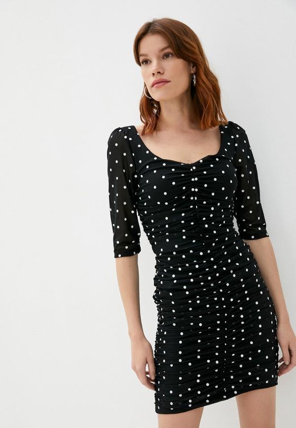 женское повседневные платье guess, черное