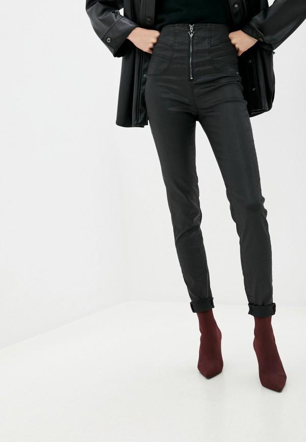 женские брюки guess, черные