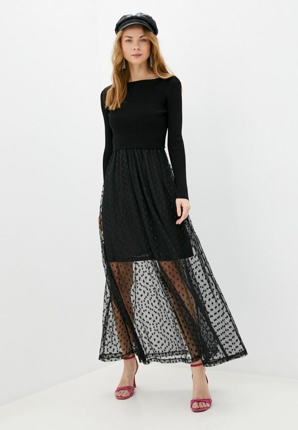 женское вечерние платье guess, черное