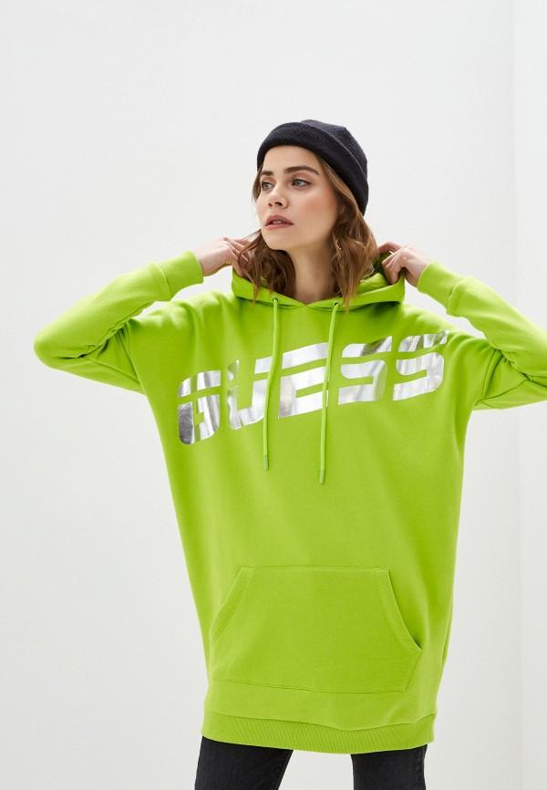 женские худи guess, зеленые