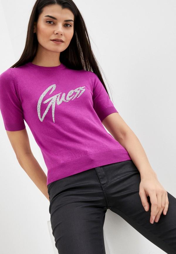 женский джемпер guess, фиолетовый