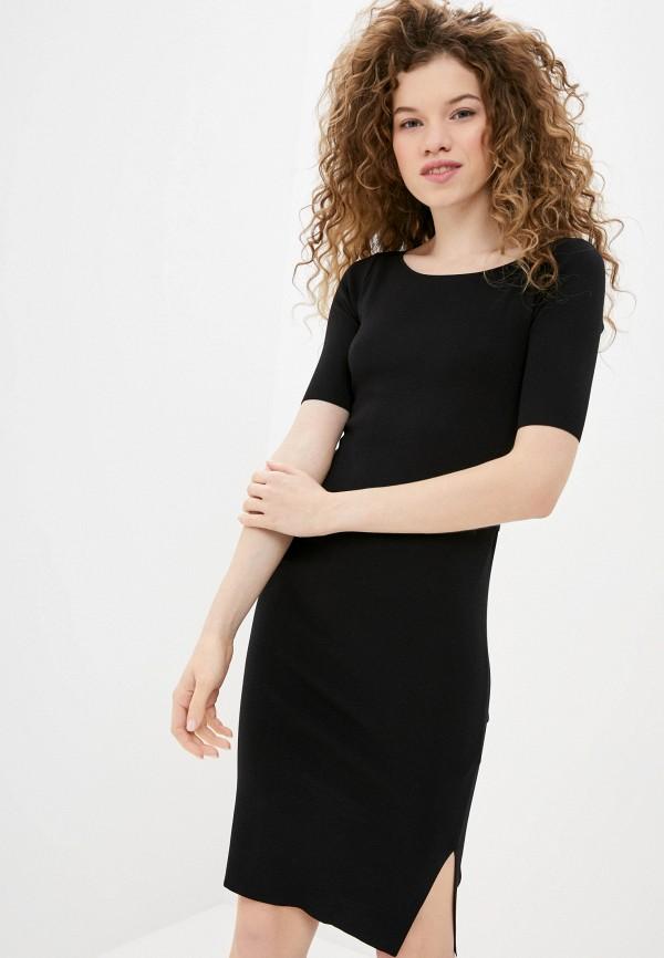 женское платье-футляр guess, черное