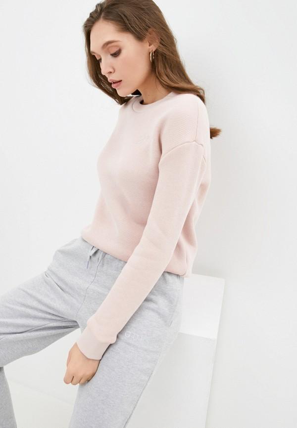 женский свитшот guess, розовый