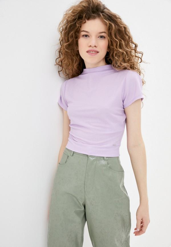 женский топ guess, фиолетовый
