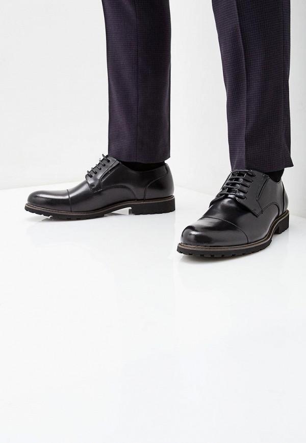 Фото 5 - мужские туфли Happy Family черного цвета