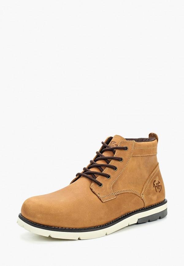 мужские высокие ботинки happy family, коричневые