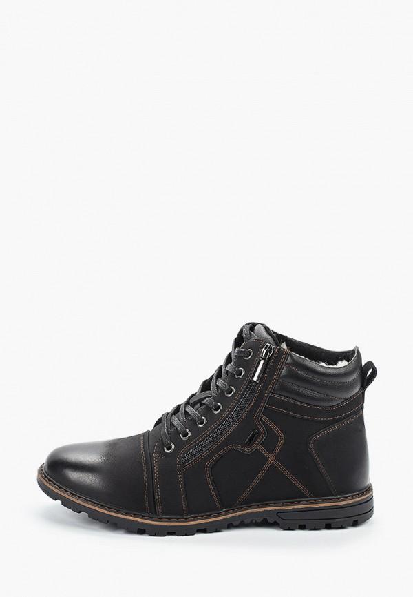 мужские высокие ботинки happy family, черные