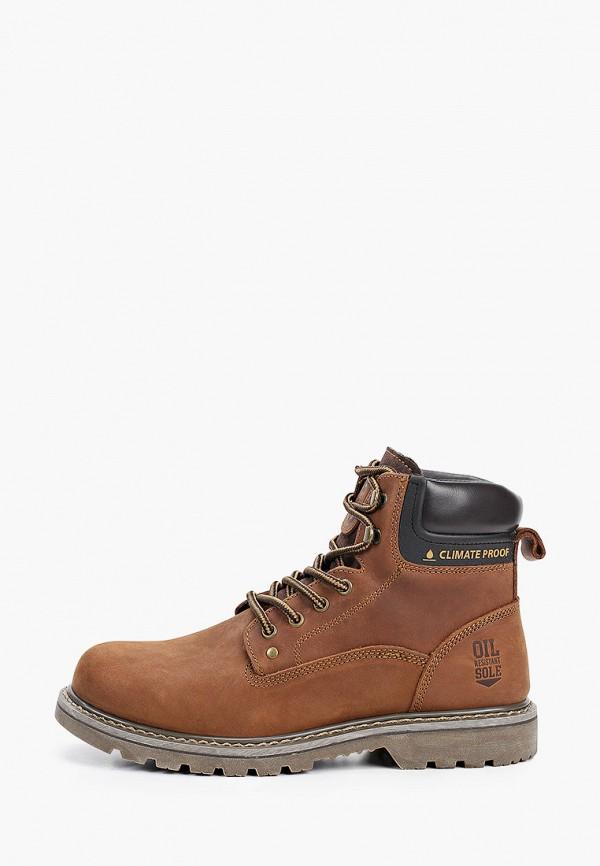мужские ботинки happy family, коричневые