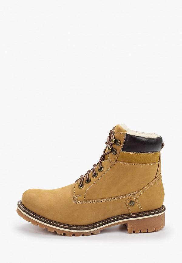 женские ботинки happy family, желтые