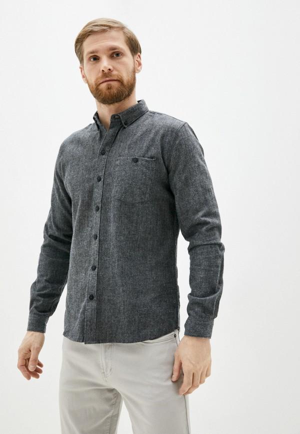 мужская рубашка с длинным рукавом haily's, серая