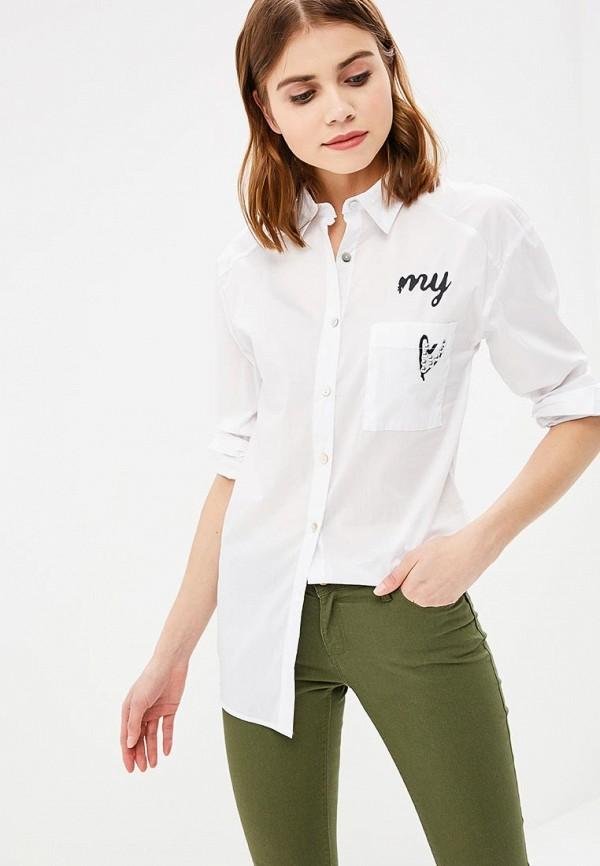 женская рубашка с длинным рукавом haily's, белая