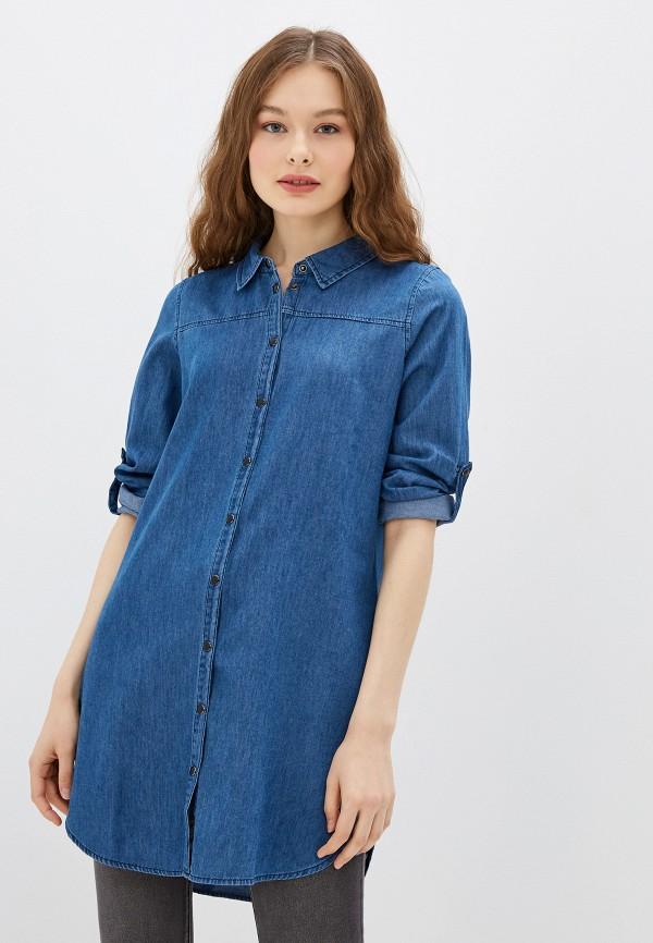 женская джинсовые рубашка haily's, синяя