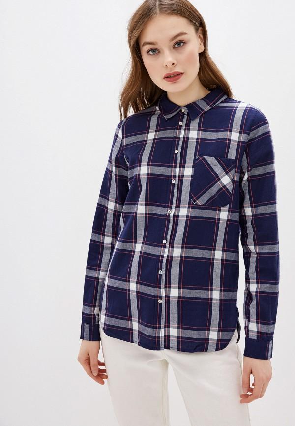 женская рубашка с длинным рукавом haily's, синяя