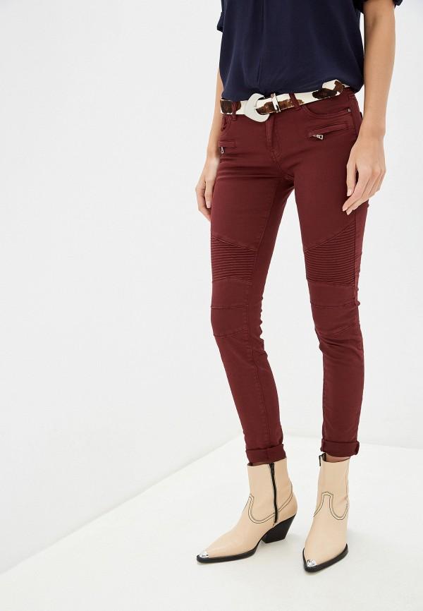 женские повседневные брюки haily's, бордовые
